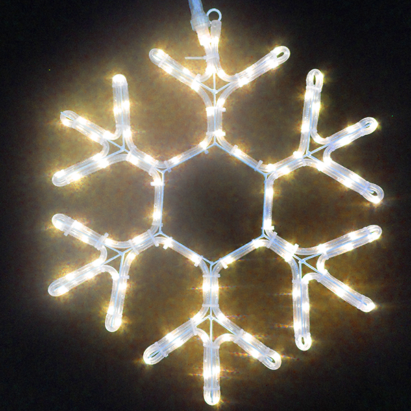 Led rope light and rope light snowflakes aloadofball Image collections